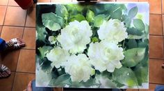 Adisorn P. watercolor flower demo jasmine 2 of 2