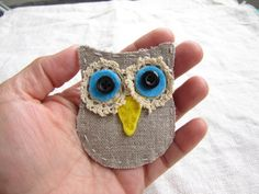Shop for patches on Etsy, the place to express your creativity through the buying and selling of handmade and vintage goods. Gray Owl, Owls, Cool Stuff, Stuff To Buy, Brooch, Create, Unique, Handmade, Etsy