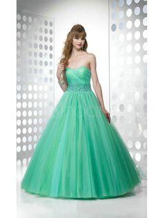 Beautiful Sweetheart Floor Length Ball Gown Prom Dress! But it's very fancy!!! :)