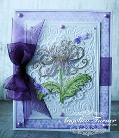 Purple Mum card made with Heartfelt Creations products.