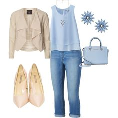 Blue & Blush by beth-hathaway on Polyvore featuring polyvore, fashion, style, Uniqlo, Dorothy Perkins, Jennifer Lopez, Michael Kors, R.J. Graziano and NLY Accessories