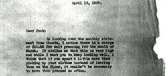 Excerpt from April 12, 1932 letter with advice from Joseph P. Kennedy Sr. to JFK. (JPK Papers, Box 1)