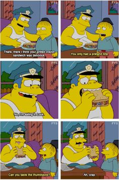 The Simpsons - 27 Reasons Why We Should All Aspire To Be Ralph Wiggum Simpsons Quotes, Simpsons Cartoon, Simpsons Characters, Bart And Lisa Simpson, Ralph Wiggum, Homer And Marge, Futurama, Funny Comics, Funny Moments