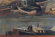 Leon Spilliaert, Shipyard in Ostend - Chantier naval à Ostende