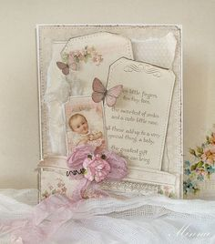 Baby girl card by Minna