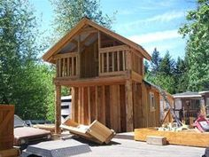 Custom shed with playhouse