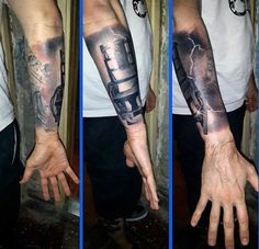 Wrist Realistic Lightning Tattoo Designs For Males