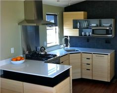 modern kitchen remodel in a single wide