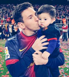 One of the greatest soccer players being a good dad warms my heart :) love you messi