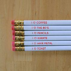 I Love - Pencil Set