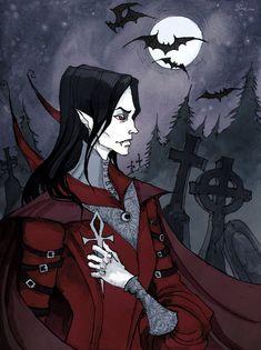 Art Print featuring Victor The Vampire by Iren Horrors Fantasy Kunst, Dark Fantasy Art, Dark Art, Gothic Horror, Horror Art, Gothic Kunst, Vampire Illustration, Art Kawaii, Vampires And Werewolves