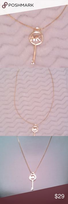 "NEW! MK Gold Key Necklace Brand new, Gold Michael Kors Key Necklace. Gold plated chain. Approx 23"". Michael Kors Jewelry Necklaces"