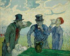 Vincent van Gogh, Los Bebedores,1890. Óleo sobre lienzo, 59.4 x 73.4 cm,The Art Institute of Chicago, EEUU.