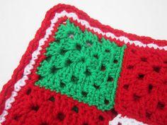 Crocheted Christmas Baby Granny Square by crochetedbycharlene, $46.00