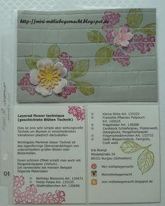 Miri - MitLiebegemacht  Technikbuch 2 - Layered Flower Technik