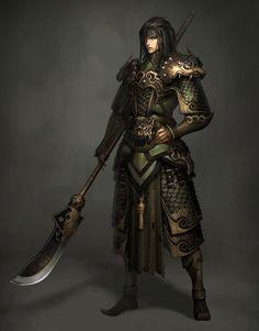 armor and polearm