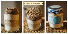 kit pour génoisette : un mélange à gâteau, un bocal, une étiquette explicative et c'est parti !