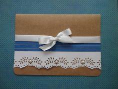 Convite Casamento Kraft | Dani Scrap | 2420C3 - Elo7