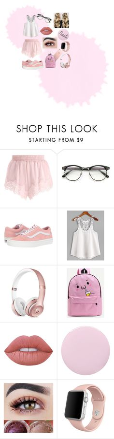 """""""Casual Pink themed summer outfit"""" by hannahevans170803 ❤ liked on Polyvore featuring Puma, ZeroUV, Vans, WithChic, Lime Crime, Deborah Lippmann, Apple, Summer, cute and Pink"""