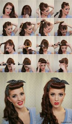 We love the vintage look! Get the look with out poppin retractable bristle iron! Makes its easy to get that barrel curl just right!   www.tronhair.com