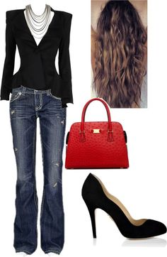 """Office Outing"" by estieladr on Polyvore"