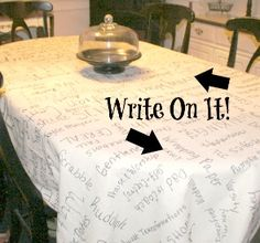 Thankful tablecloth...doing this starting this year. Might write smaller and use it for a few years...