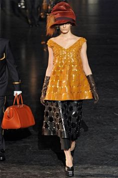 louis vuitton fw12 dress over skirts over pants