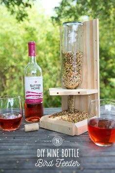 This upcycled DIY bird feeder follows the cardinal rule to love your neighbors — whether they travel by foot or flight! Find out more at SutterHome.com.