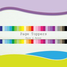 28 Page Toppers  Clip Art ClipArt - Personal and Commercial Use - Instant Download - Rainbow R331