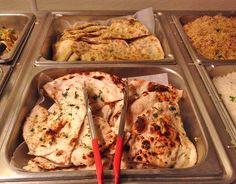 Top: Veg-Paranta & Bottom: Garlic Naan  #Indianfood #buffet