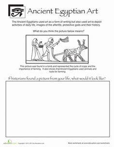 Middle School Social Studies Worksheets: Ancient Egyptian Art