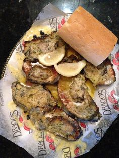 Charbroiled oysters from Dragos