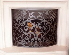 Buy Solid brass French mantel screen from Wilshire Fireplace Shop
