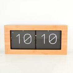 Aliexpress.com: Comprar Movimiento silencioso de madera de bambú variedad de opcionales salón dormitorio estudio oficina maquinaria de cuarzo reloj flip regalo de flip clock fiable proveedores en Shop3002066 Store