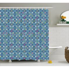 Home - Country Decor Idea Tribal Fabric, Geometric Form, Moroccan Decor, Bathroom Sets, Maze, Mosaic Tiles, Hooks, Oriental, Vibrant