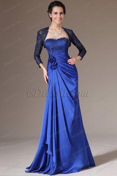 eDressit 2014 New Blue Lace Bolero 2 Pieces Mother of the Bride Dress (26142705) $155