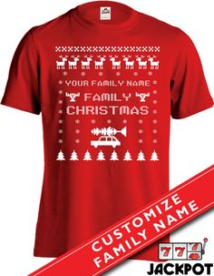 Family Christmas Vacation T Shirt    <<Customize this t shirt with your family name. Please leave note upon checkout>>