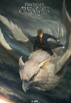 Newt and Frank the Thunderbird from Fantastic Beasts Fanart Harry Potter, Arte Do Harry Potter, Harry Potter Universal, Harry Potter Fandom, Harry Potter World, Fantastic Beasts Fanart, Fantastic Beasts And Where, The Beast, Hogwarts