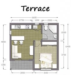 Designs For Flats granny flat designs | 40m2 1 bedroom granny flat | granny flats