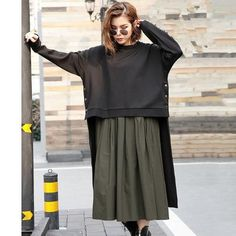 Create not one but two fashionable looks with this 2 Piece Set Pleated Dress + Cover Up sweater! This offer comes with a soft flowing pleated dress and a modern cover up sweater. Wear this dress a. Women's Fashion Dresses, Hijab Fashion, Boho Fashion, Womens Fashion, Fashion Design, Women's Summer Fashion, Fashion 2020, Iranian Women Fashion, Hijab Style