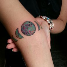 My new magic moon phase tattoo done by Levi Cox at The Rue Morgue in Shelbyville, Indiana.