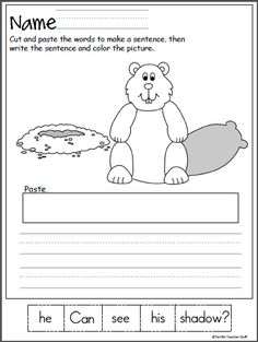 Free Groundhog Day math worksheet for preschool and kindergarten. Students write the numbers that come before and after. This is a fun February activity Kindergarten Groundhog Day, Groundhog Day Activities, Homeschool Kindergarten, Kindergarten Writing, Kindergarten Worksheets, Homeschooling, Winter Activities, February Holidays, About Me Activities