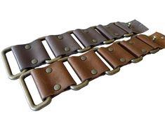 linked leather cuff bracelet