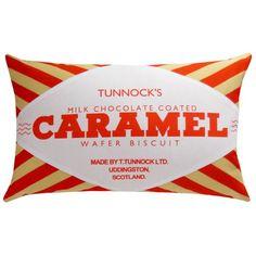Tunnock's Caramel Wafer Printed Cushion – Nikki McWilliams