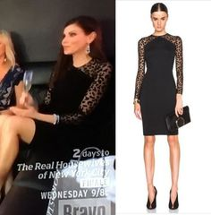 Heather Dubrow's Black Sheer Leopard SLeeve Dress http://www.bigblondehair.com/real-housewives/heather-dubrows-black-sheer-leopard-sleeve-dress/