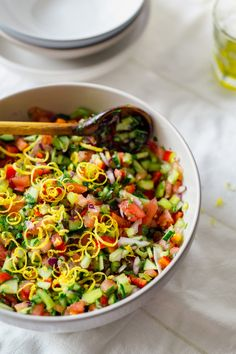 Chopped Cucumber & Tomato Salad with Lemon #justeatrealfood #realfoodpledge