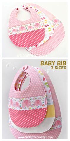 6 DIY Baby Girl Drool Ribs Free Sewing Patterns | Fabric Art DIY