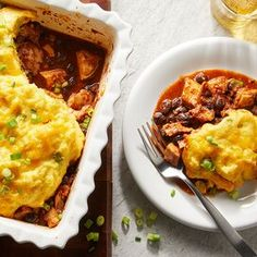 Vegetarian Enchilada Casserole, Tamale Casserole, Casserole Dishes, Casserole Recipes, Casserole Ideas, Chicken Casserole, Mexican Food Recipes, Dinner Recipes, Mexican Entrees