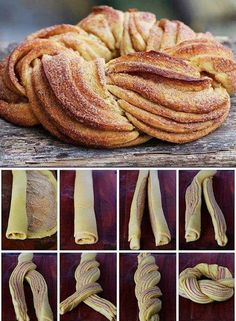 Just made this beauty for my birthday brunch! Just as delicious as it is pretty! - Just made this beauty for my birthday brunch! Just as delicious as it is pretty! Sweet Recipes, Cake Recipes, Dessert Recipes, Sweet Puff Pastry Recipes, Delicious Desserts, Yummy Food, Bread Shaping, Birthday Brunch, Bread And Pastries