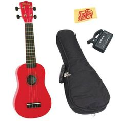 Mahalo U-30RD Painted Soprano Ukulele Bundle with Gig Bag, Tuner, and Polishing Cloth - Red by Mahalo. $51.95. Bundle includes Mahalo U-30RD Painted Soprano Ukulele, Gig Bag, Tuner, and Polishing Cloth. Mahalo ukuleles make the perfect first instrument for any aspiring musician. They are small, colorful and easy instruments that can be used to start anyone on a life-long musical journey, young or old. The U-30 Series painted ukes are available in a rainbow of colors and eac...